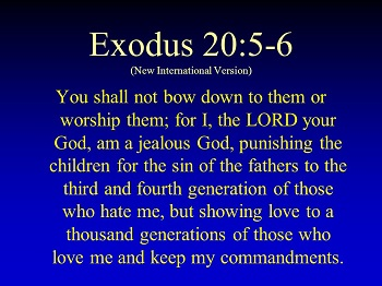 A jealous God, punishing sin for generations  Or maybe not